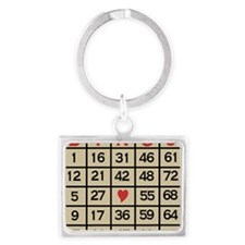 Bingo Game Card Landscape Keychain