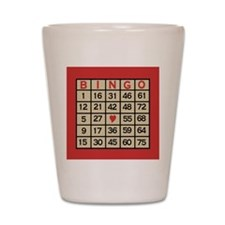 Bingo Game Card Shot Glass