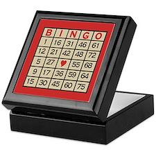 Bingo Game Card Keepsake Box