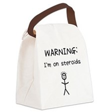 WARNING1 Canvas Lunch Bag