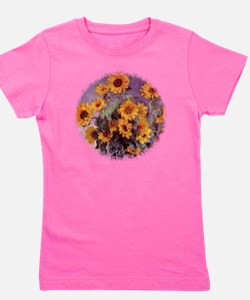 Sunflowers by Claude Monet r2 Girl's Tee