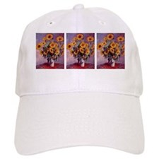 Sunflowers by Claude Monet 3 pic Baseball Cap
