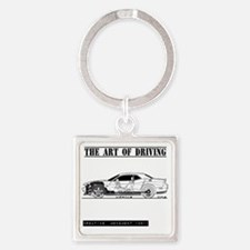car drive auto race dc Square Keychain