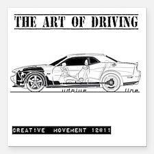 """car drive auto race dc Square Car Magnet 3"""" x 3"""""""