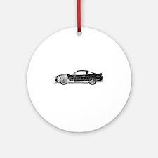 car drive auto race fm Round Ornament