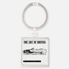 car drive auto race ccw Square Keychain
