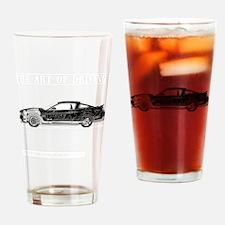 car drive auto race fm Drinking Glass