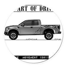 car drive auto race ft Round Car Magnet