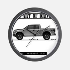 car drive auto race ft Wall Clock