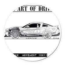 car drive auto race fmw Round Car Magnet