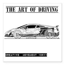 "car drive auto race lg Square Car Magnet 3"" x 3"""