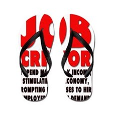 Im a JOB CREATOR 4 LIGHT SHIRT 600dpi Flip Flops