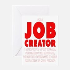 Im a JOB CREATOR 4 DARK SHIRT 600dpi Greeting Card