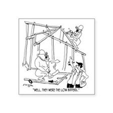 "5776_construction_cartoon Square Sticker 3"" x 3"""