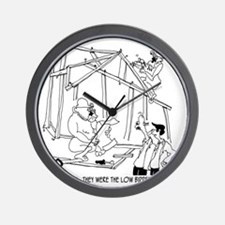 5776_construction_cartoon Wall Clock