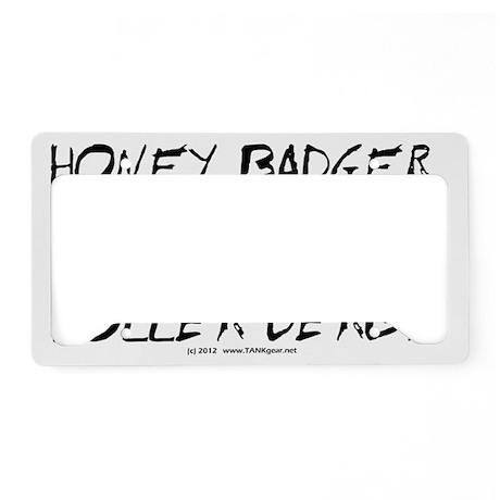 derby_honey_badger_black_evol License Plate Holder