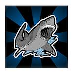 Shark Great White Ocean Tile Coaster
