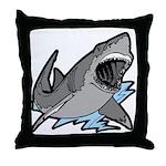 Shark Great White Ocean Throw Pillow