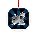 Shark Great White Ocean Ornament (Round)