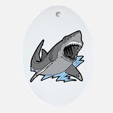 Shark Great White Ocean Oval Ornament