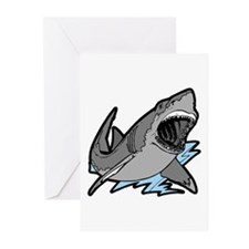 Shark Great White Ocean Greeting Cards (Package of