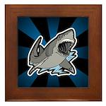 Shark Great White Ocean Framed Tile