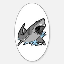 Shark Great White Ocean Oval Decal