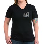 Shark Great White Ocean Women's V-Neck Dark T-Shir