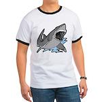 Shark Great White Ocean Ringer T