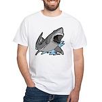 Shark Great White Ocean White T-Shirt