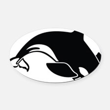 killer whale Oval Car Magnet