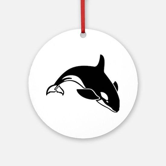 killer whale Round Ornament