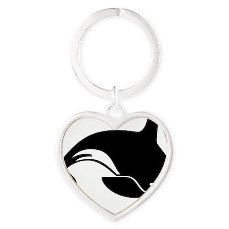 killer whale Heart Keychain