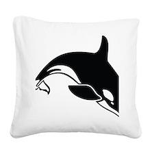 killer whale Square Canvas Pillow