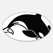 killer whale Sticker (Oval)