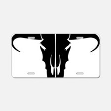 longhorn skull Aluminum License Plate