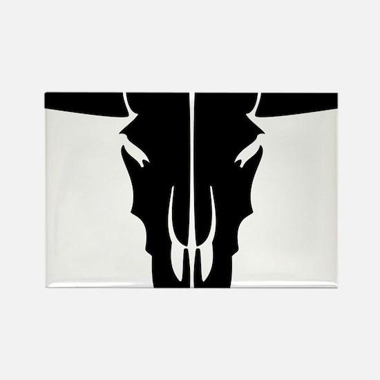 longhorn skull Rectangle Magnet