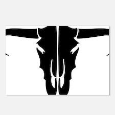 longhorn skull Postcards (Package of 8)