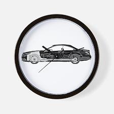 car drive auto race mbb Wall Clock