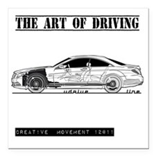 "car drive auto race mb Square Car Magnet 3"" x 3"""
