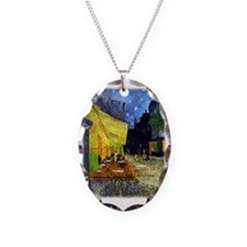 Cafe Terrace at Night r3 Necklace
