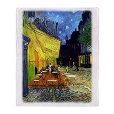 Cafe Terrace at Night r3 Throw Blanket