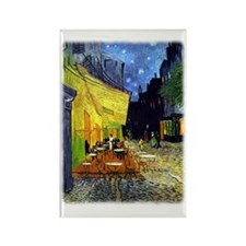 Cafe Terrace at Night r3 Rectangle Magnet
