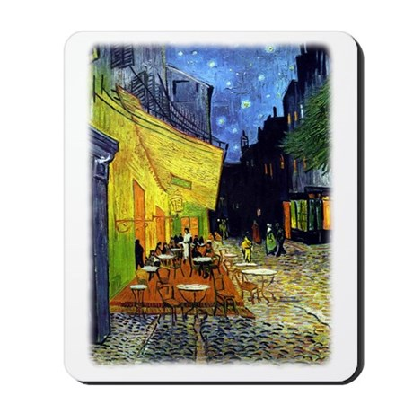 Cafe Terrace at Night r3 Mousepad