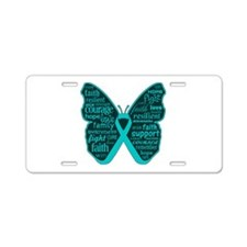 PCOS Awareness Butterfly Aluminum License Plate