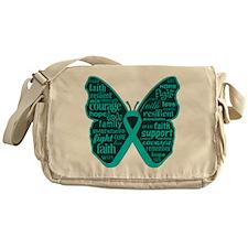PCOS Awareness Butterfly Messenger Bag
