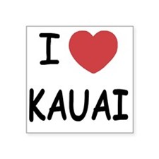 "KAUAI Square Sticker 3"" x 3"""