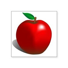 "red apple Square Sticker 3"" x 3"""
