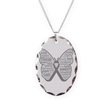 Parkinsons Disease Awareness Necklace Oval Charm
