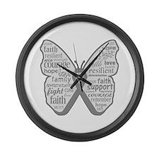 Parkinsons Disease Awareness Large Wall Clock